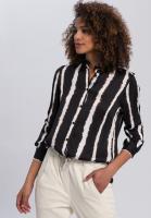 Blouse with batik stripes