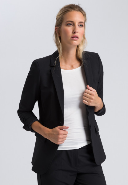 Long blazer with new wool