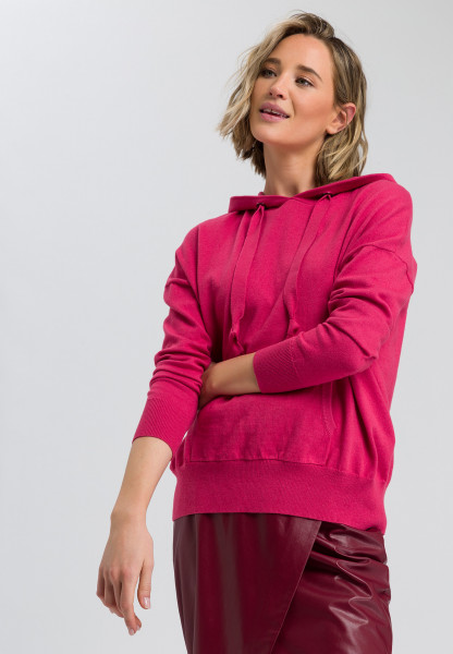 Knitted hoodie cashmere