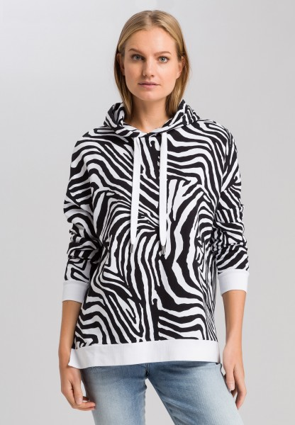 Sweatshirt with zebra print