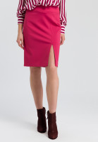 Jersey skirt with slot