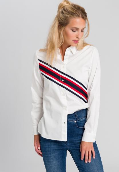 Shirt blouse With diagonal strips