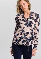 Blouse with flower print