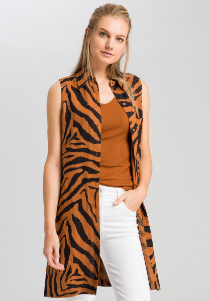 Long blouse with tiger pattern