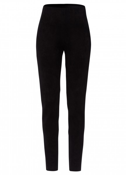 Leggings in Wildlederoptik