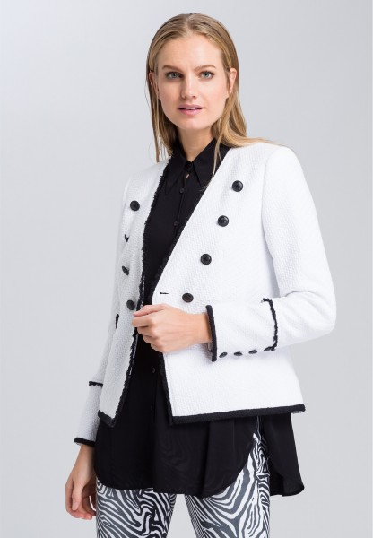Blazer with contrasting details