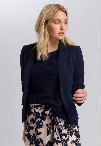 One-button blazer in twill optic
