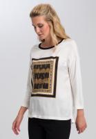 Shirt blouse With batik front print