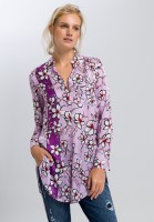 Long blouse with floral decoration