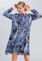 Tunic dress in paisley print