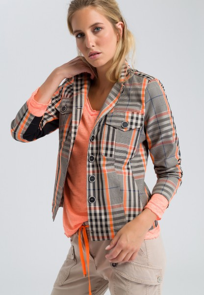 Jacket in glencheck look