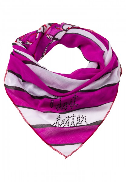Triangular scarf with decorative stones
