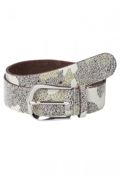 Belt with abstract camouflage print