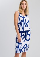 Jersey dress with text printing