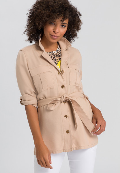Blouse jacket in structured-look