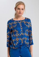 Blouse with chain pressure and dots