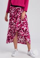 Wrap skirt with batik print