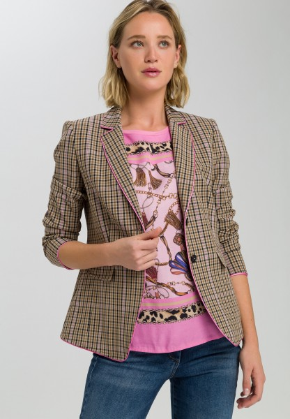 Blazer in check design