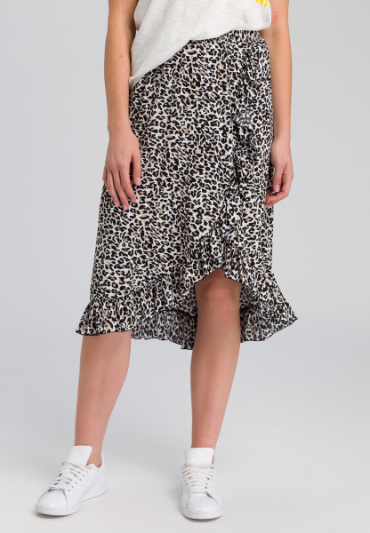 Skirt in leopard design