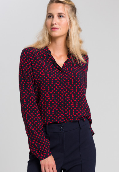 Shirt blouse With printed hearts