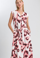 Maxi dress in modern aquarelle print