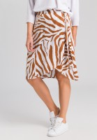 Wrap skirt with tiger pattern