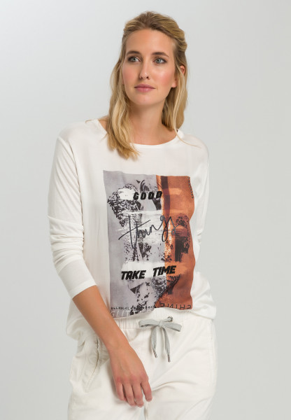 Shirt blouse With abstract frontprint