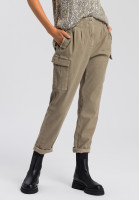 Utility trousers made from structured twill