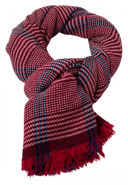 Woven scarf fringed