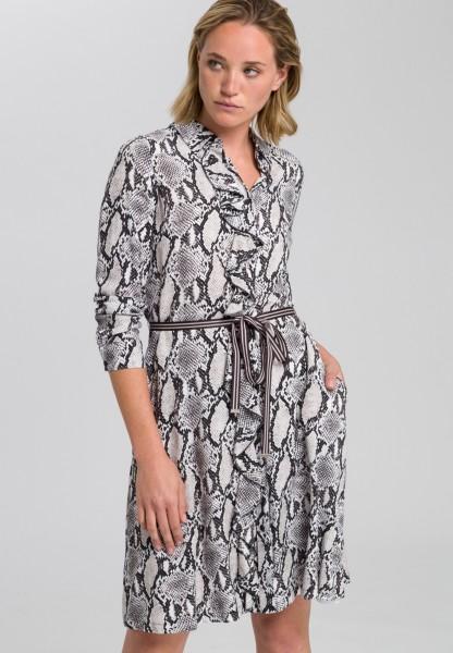 Dress in snake print