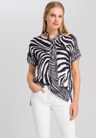 Shirt blouse with zebra print