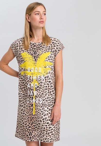 Leo dress with palm tree print