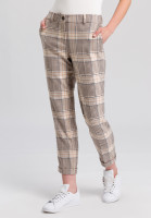 Trousers with chequered pattern