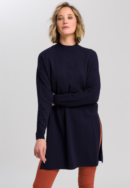 Long sweater with turtleneck