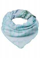 Triangular scarf in tie-dye patchwork
