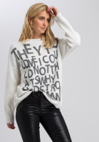 Sweaters with writing elements