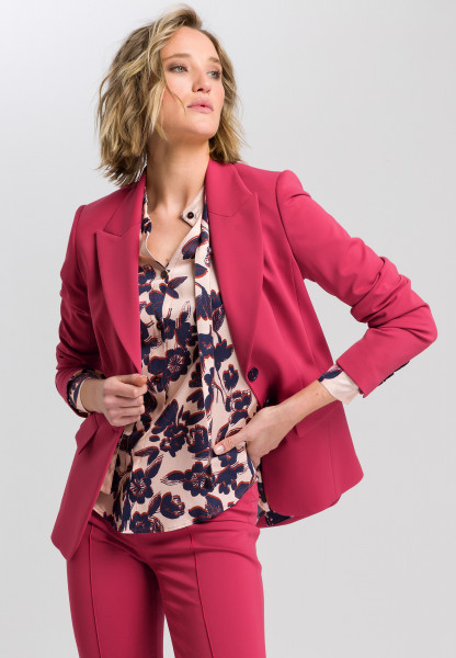 Two-button blazer from technical jersey