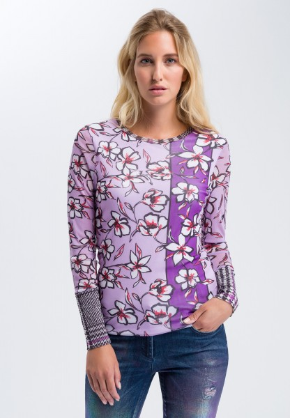 Long-sleeve shirt in the pattern mix