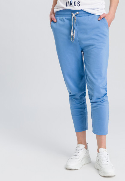 Track Pant with typo-drawstring