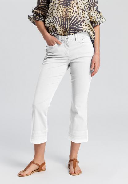 Trouser with frayed hem