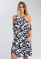 Off the shoulder dress with floral pattern