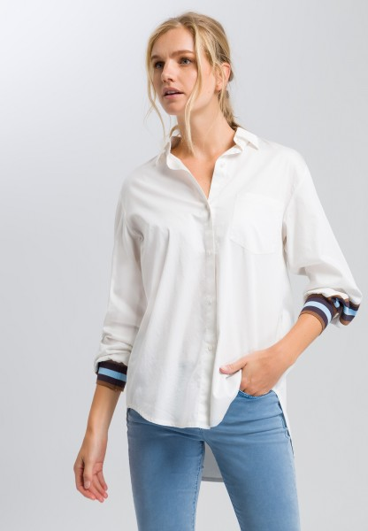 Blouse with striped details