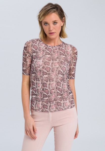 T-shirt with dark snake print
