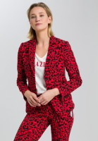 Blazer with leopard print and writing band