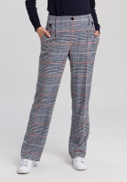 Pleat-front trousers with check pattern