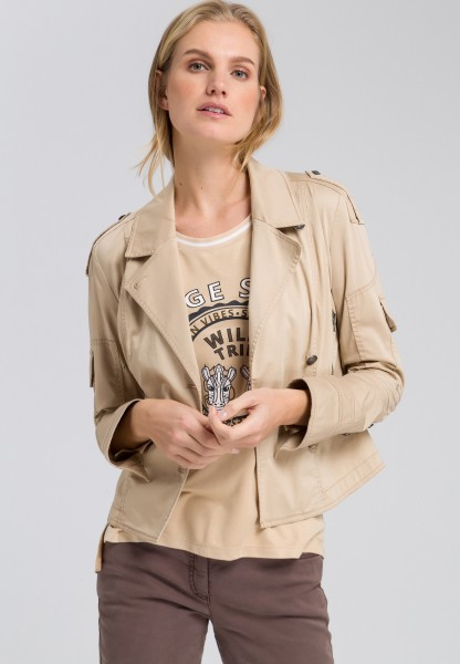 Textile jacket biker style
