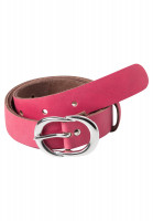 Belt made of pink leather