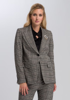Blazer Made of Glencheck jersey with brooch