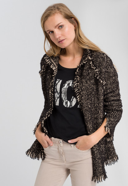 Cardigan with franking details
