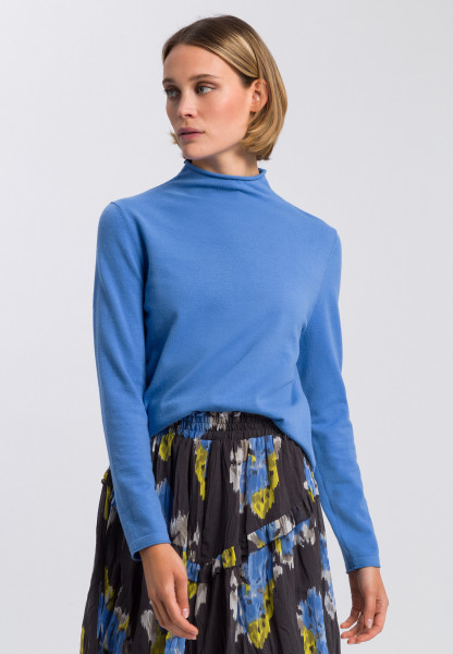 Jumper with knitted turtleneck